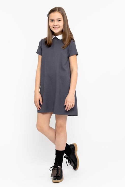 Купить 219GSGC2506, Платье для девочки Gulliver, цв.серый, р-р 158, Платья для девочек