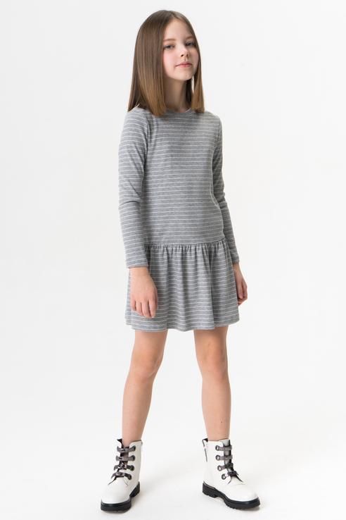 Купить 219BBGC50011905, Платье для девочки Button Blue, цв.серый, р-р 158, Платья для девочек