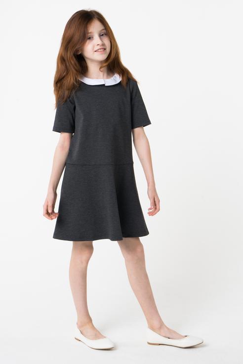 Купить 384441, Платье для девочки PlayToday, цв.серый, р-р 134, Play Today, Платья для девочек
