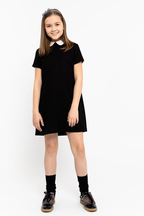 Купить 219GSGC2504, Платье для девочки Gulliver, цв.чeрный, р-р 134,