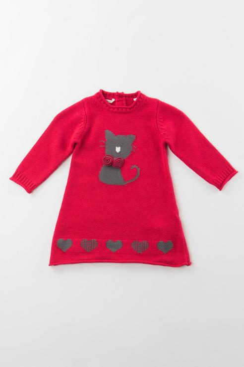 Купить 3.V711.00, Платье для девочки Sarabanda, цв.красный, р-р 74,