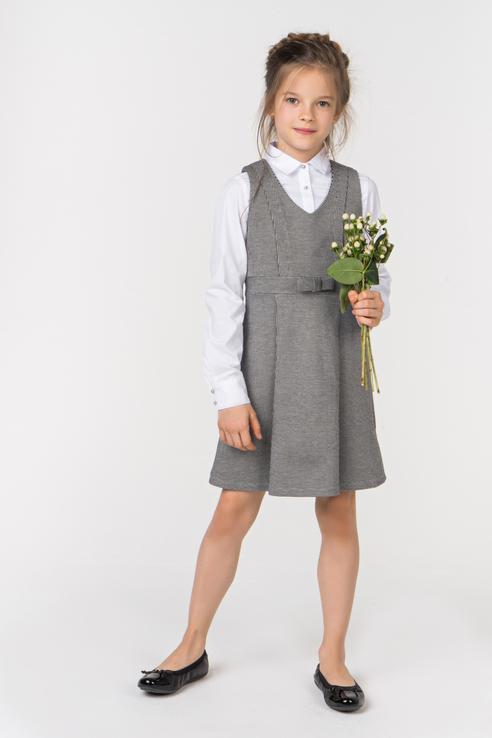 Купить 218GSGC5006, Платье для девочки Gulliver, цв.серый, р-р 140,