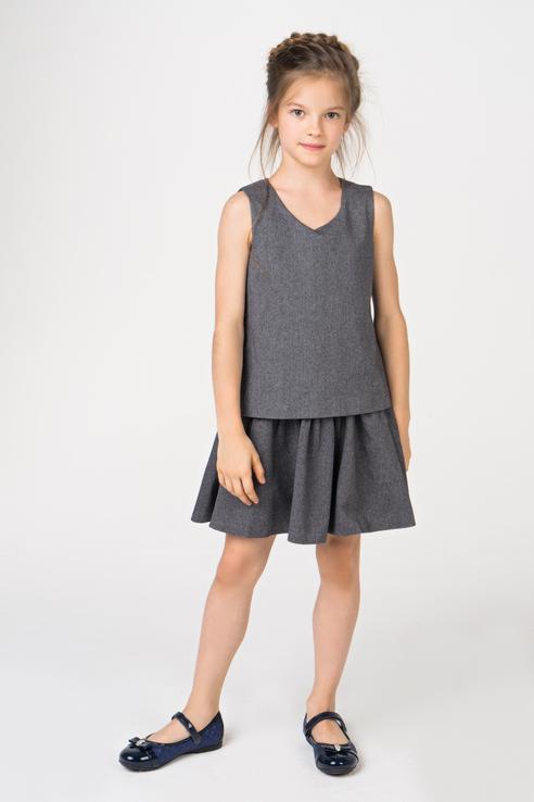 Купить 218GSGC2506, Платье для девочки Gulliver, цв.серый, р-р 158, Платья для девочек