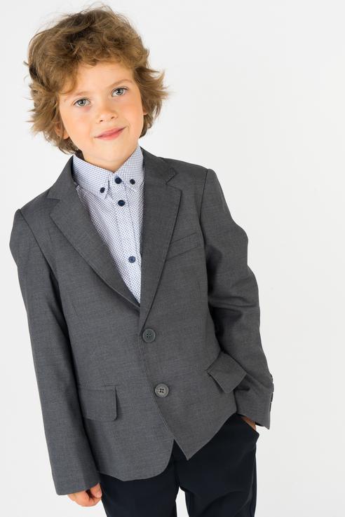Пиджак для мальчика Gulliver, цв.серый, р