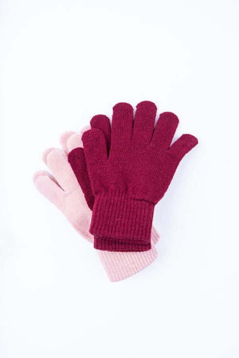 Перчатки детские PlayToday, цв.бордовый, р-р 16
