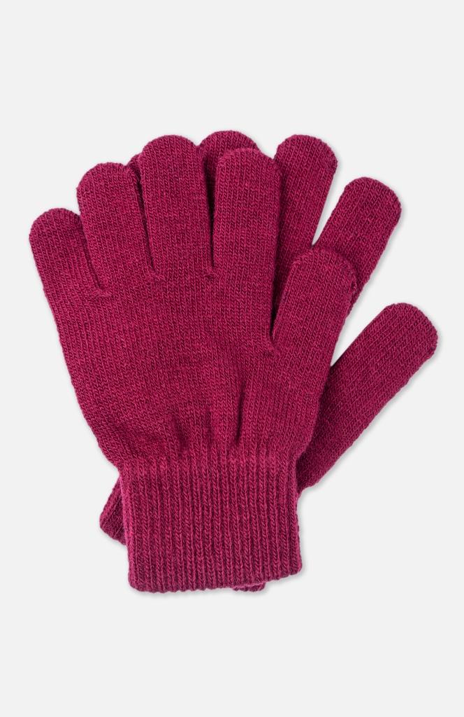 Перчатки детские PlayToday, цв.бордовый, р-р 17
