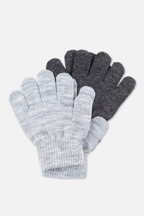 Перчатки детские PlayToday, цв.серый, р-р 13