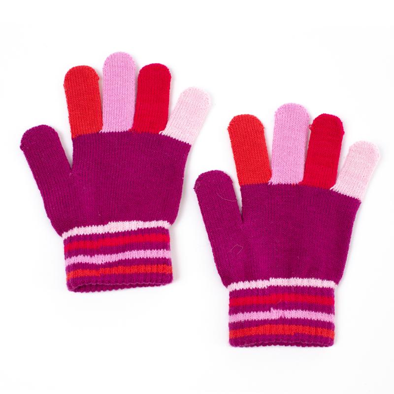 Перчатки для девочки PlayToday, цв.розовый, р-р 15
