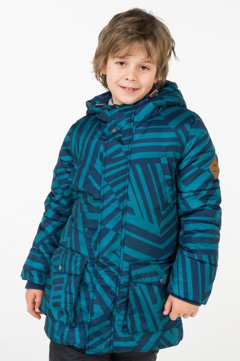 Пальто зимнее для мальчика Button Blue, цв.синий,