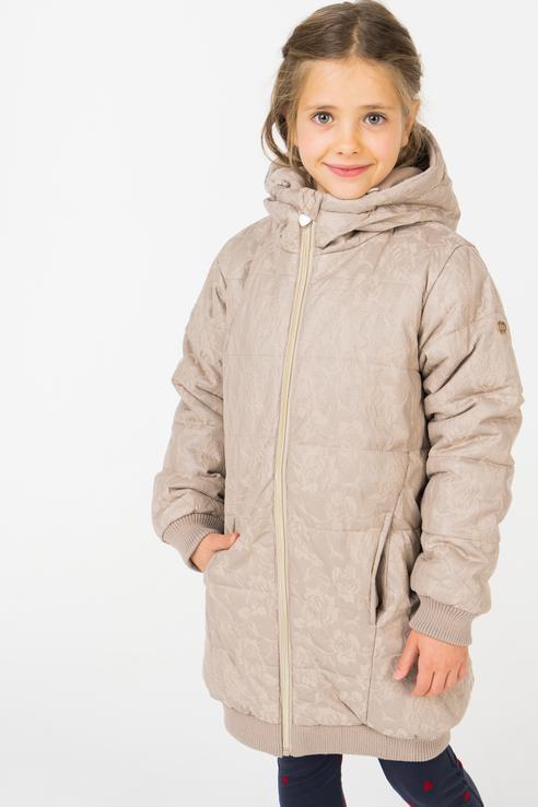 Пальто зимнее для девочки Button Blue, цв.бежевый,