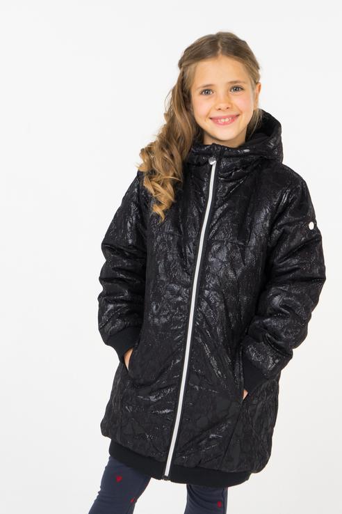 Пальто зимнее для девочки Button Blue, цв.чeрный,