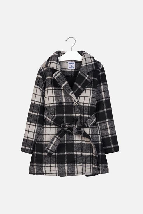Пальто для девочки Mayoral, цв.серый, р-р 128 фото