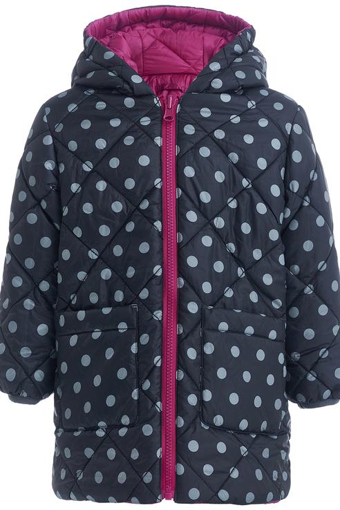 Пальто для девочки Button Blue, цв.мультиколор,