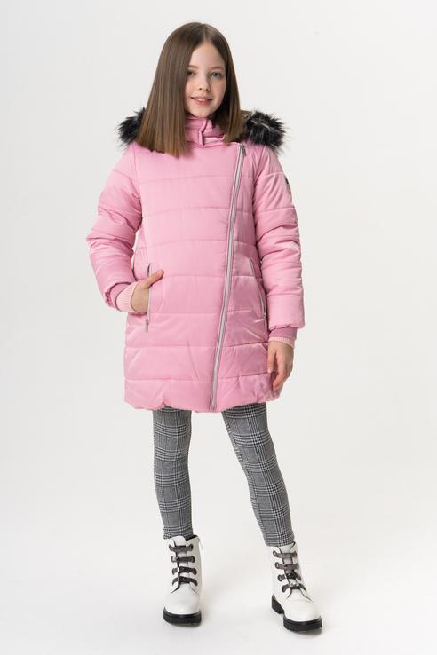Купить 219BBGC45011200, Пальто для девочки Button Blue, цв.розовый, р-р 128,