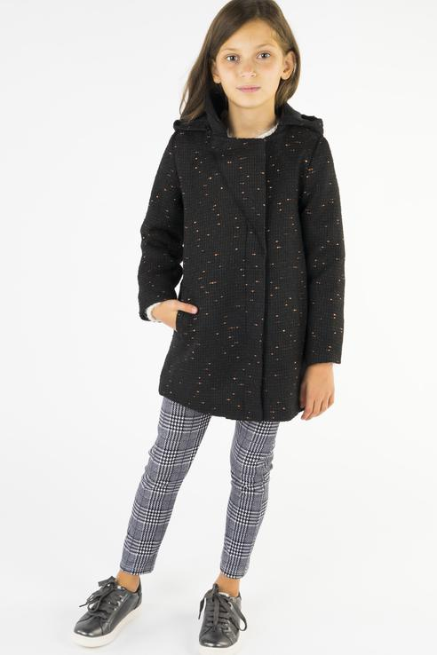 Пальто для девочки 3pommes, цв.серый, р