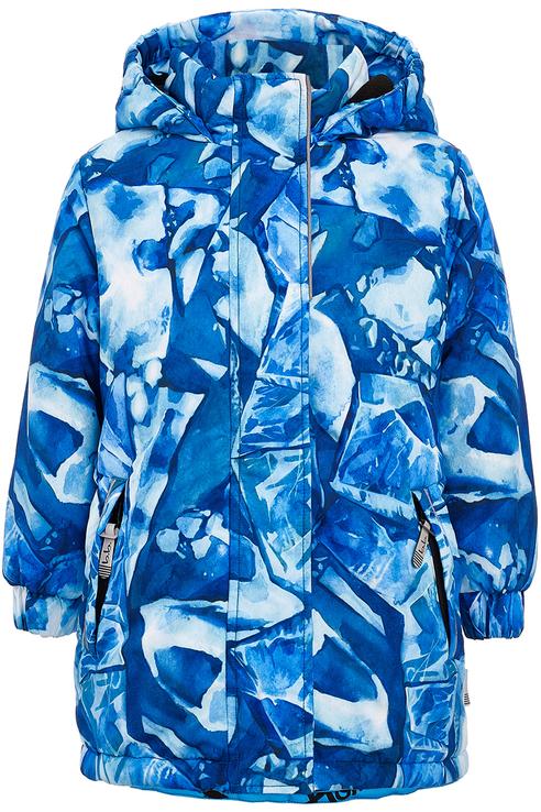 Пальто для девочки Button Blue, цв.синий,