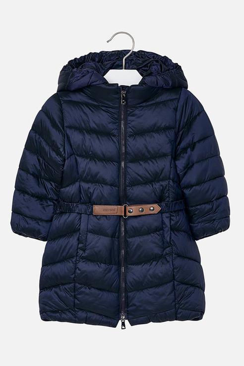 Пальто для девочки Mayoral, цв.синий, р-р 122 4420