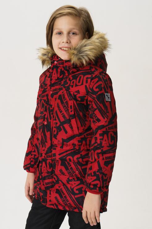 Купить 219BBBC45033513, Пальто для мальчика Button Blue, цв.красный, р-р 128,