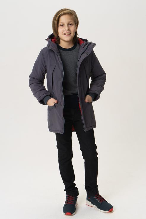 Пальто для мальчика Button Blue, цв.серый,
