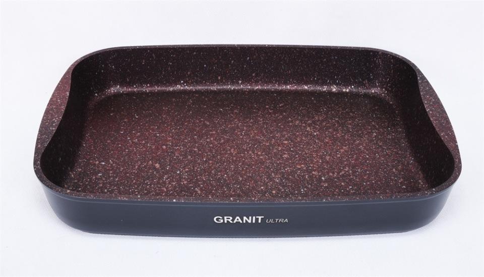 Противень а/пр литой 33,5х22х5,5см Granit ultra