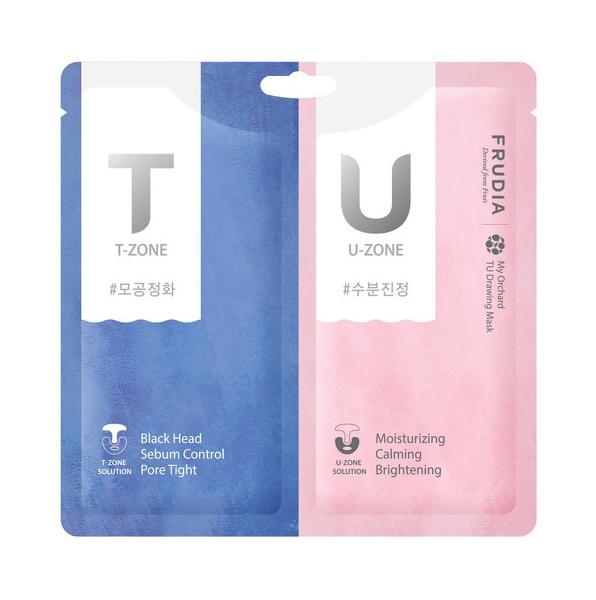 Купить Маска Frudia с розовой и черной глиной для комбинированной кожи My Orchard TU Drawing Mask
