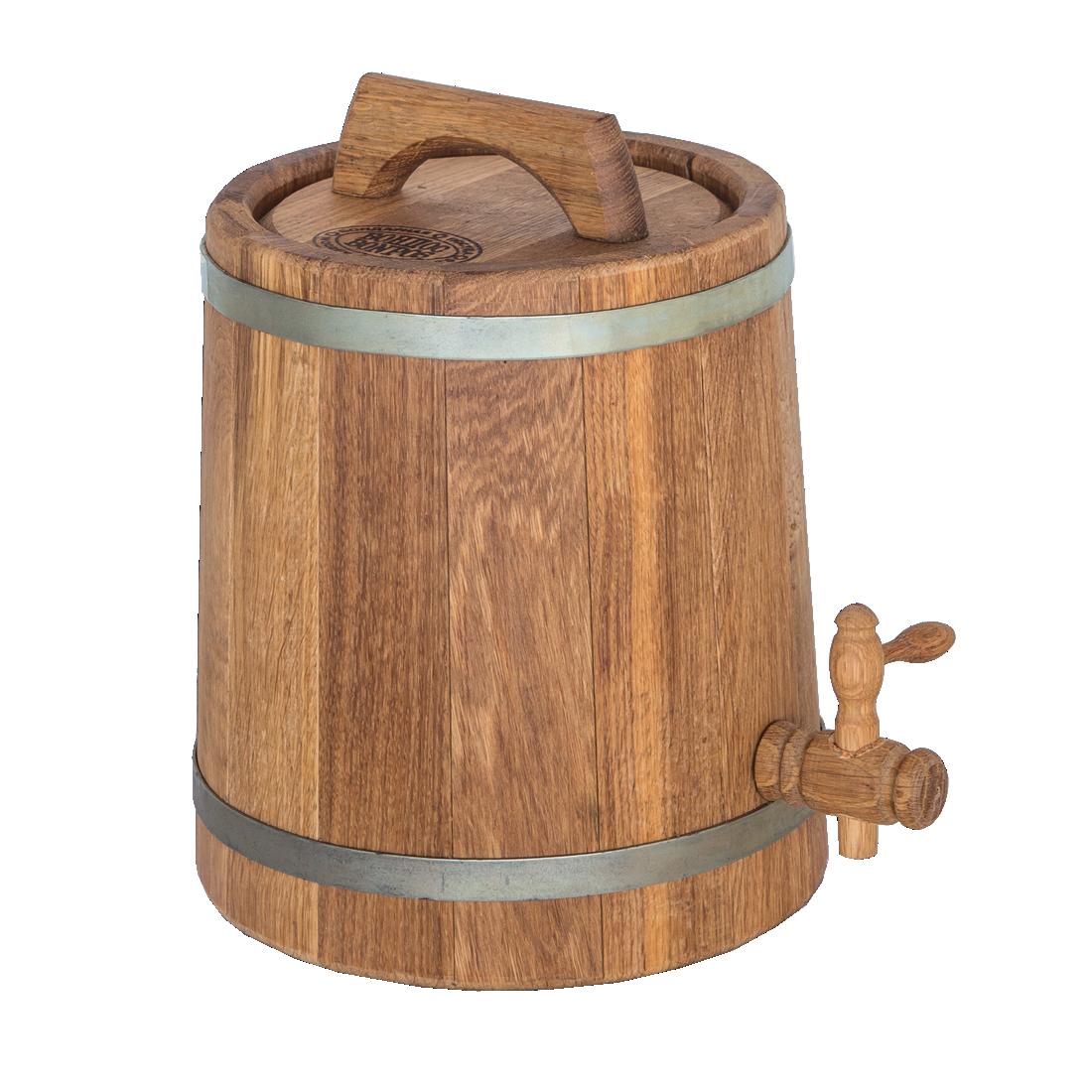 Бочка дубовая конусная для напитков 3 литра
