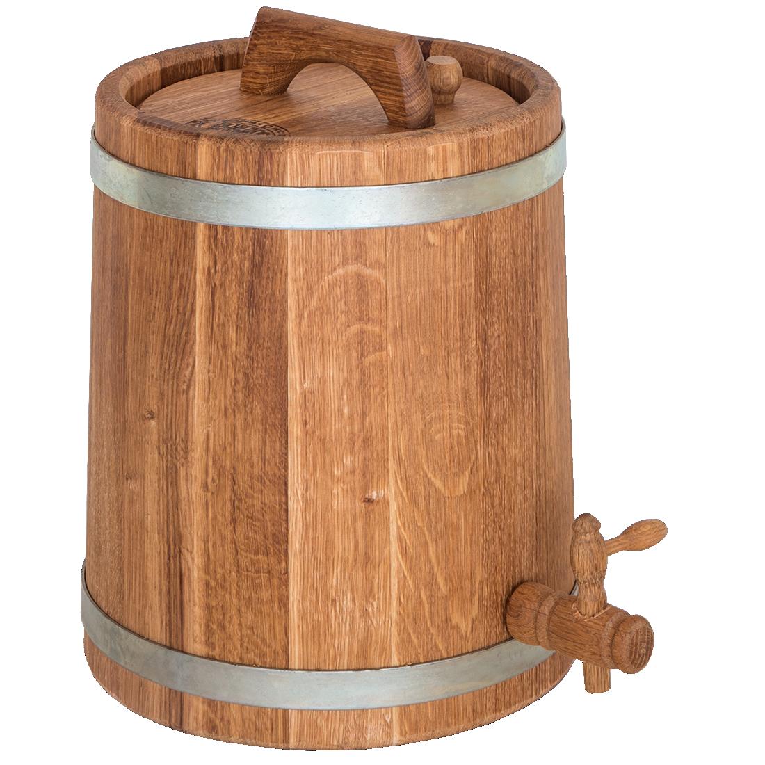 Бочка дубовая конусная для напитков 10 литров