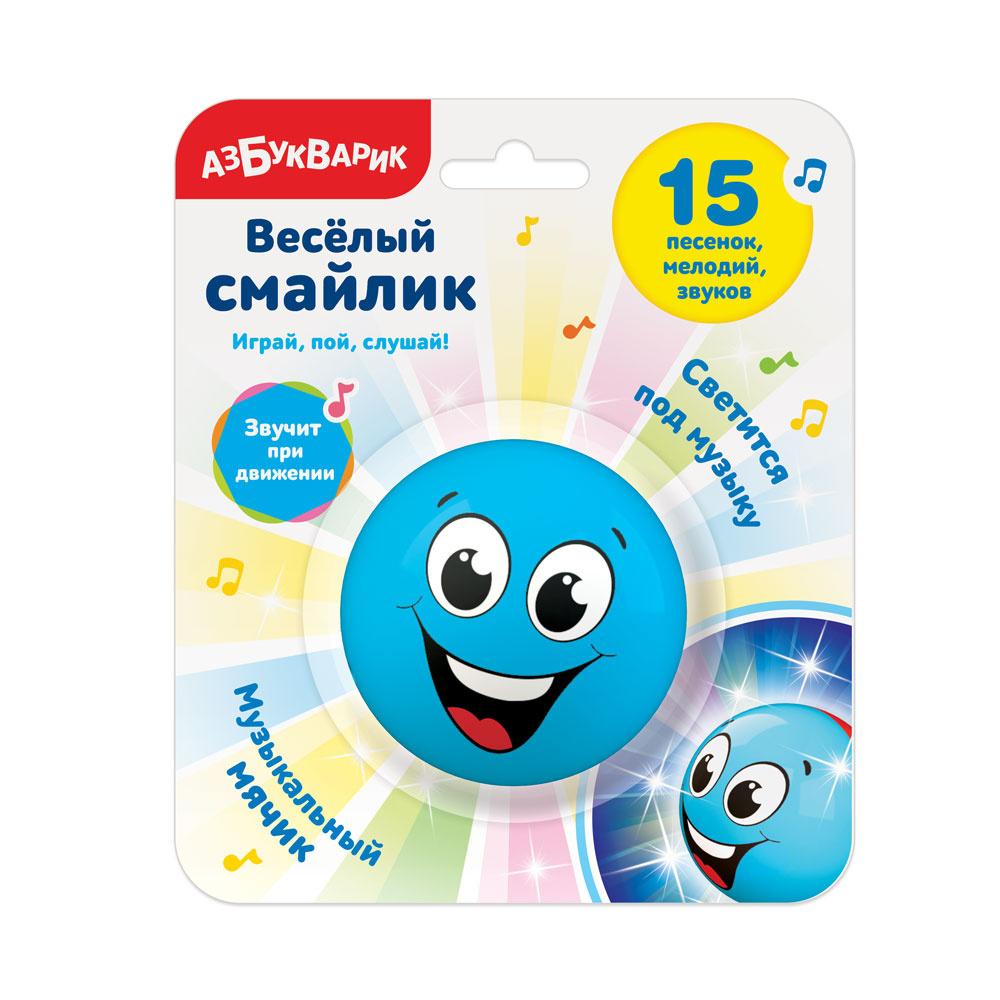 Развивающая игрушка Азбукварик Cмайлик веселый Голубой