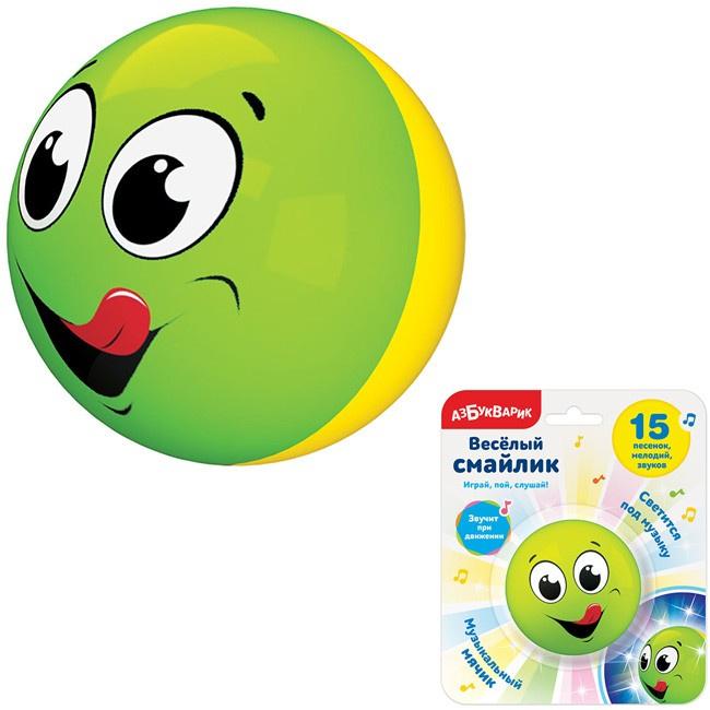 Развивающая игрушка Азбукварик Cмайлик веселый Зеленый