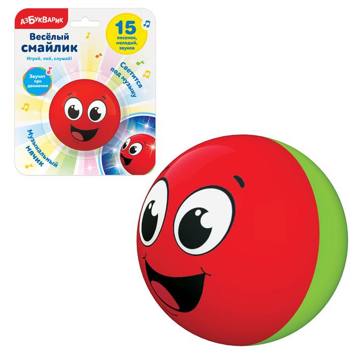 Развивающая игрушка Азбукварик Cмайлик веселый Красный