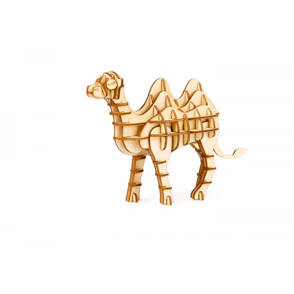 TG208 3D деревянный пазл Robotime Дикие животные - Верблюд
