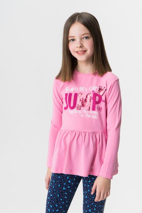 Лонгслив для девочки Button Blue, цв.розовый, р-р 128 219BBGC12034200 по цене 930