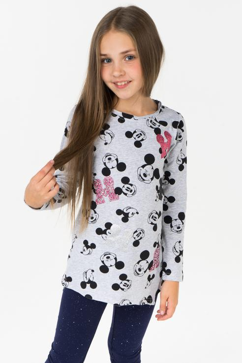 Купить 582005, Лонгслив для девочки PlayToday, цв.серый, р-р 116, Play Today,
