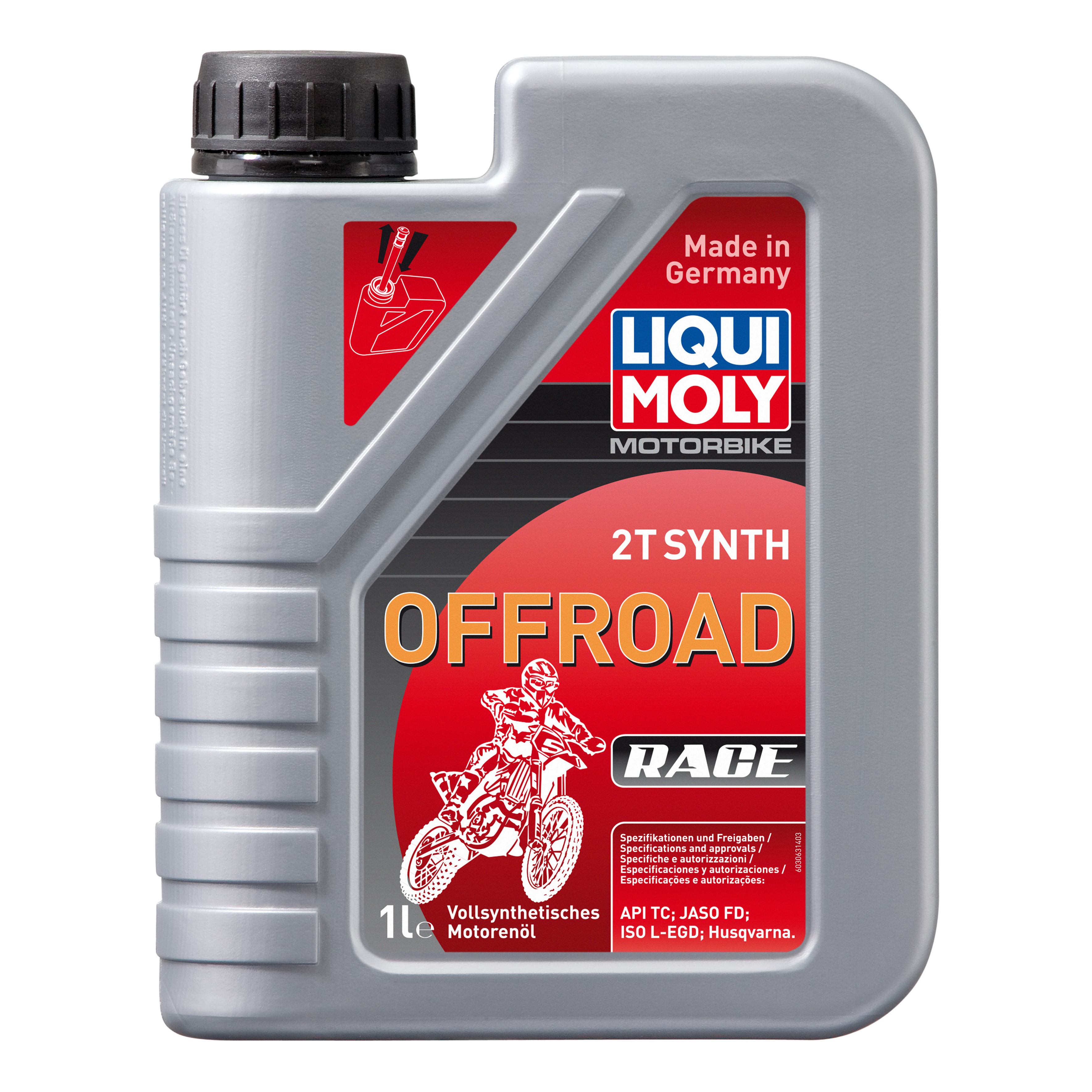 Моторное масло Liqui moly Motorbike 2T Synth Offroad Race 15W-40 1л фото