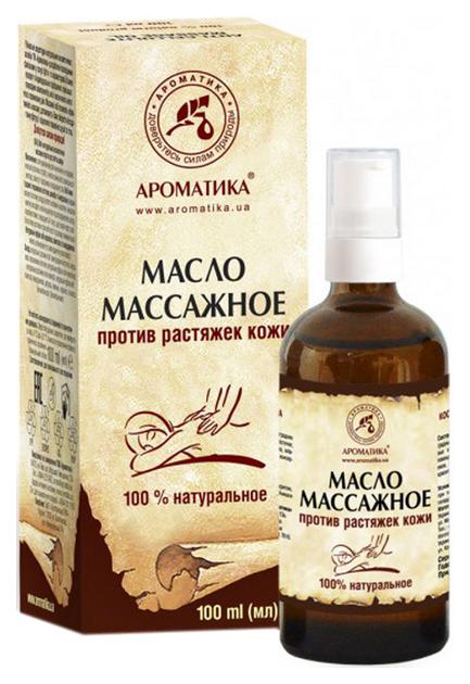 Купить Массажное масло Ароматика для тела против растяжек кожи 100 мл