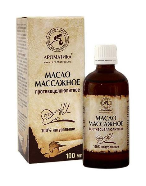 Купить Массажное масло Ароматика для тела против целлюлита 100 мл