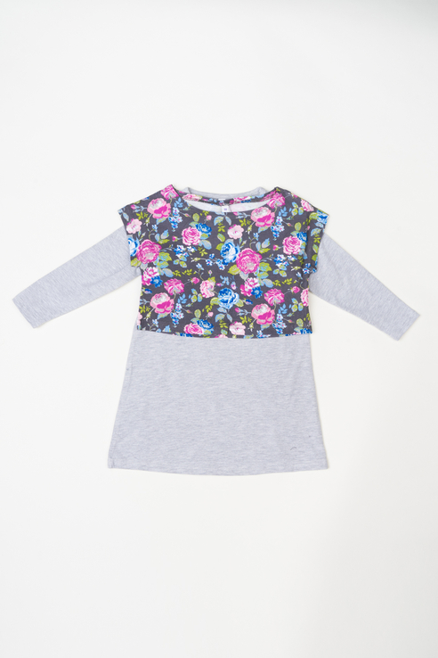 Купить 362072, Лонгслив для девочки PlayToday, цв.серый, р-р 116, Play Today,