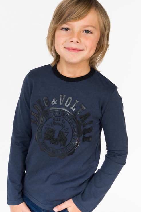 Купить X25111/854 FW18/19, Лонгслив для мальчика ZADIG & VOLTAIRE, цв.синий, р-р 138,
