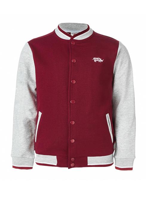 Куртка бомбер для мальчика Button Blue, цв.красный,