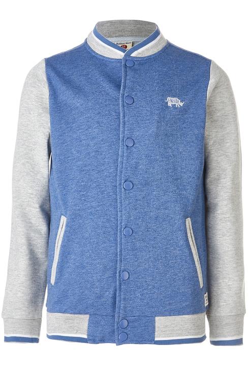 Куртка бомбер для мальчика Button Blue, цв.синий,