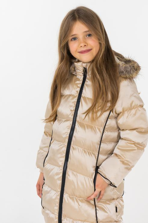 Купить 726487, Куртка для девочки Boboli, цв.бежевый, р-р 98,