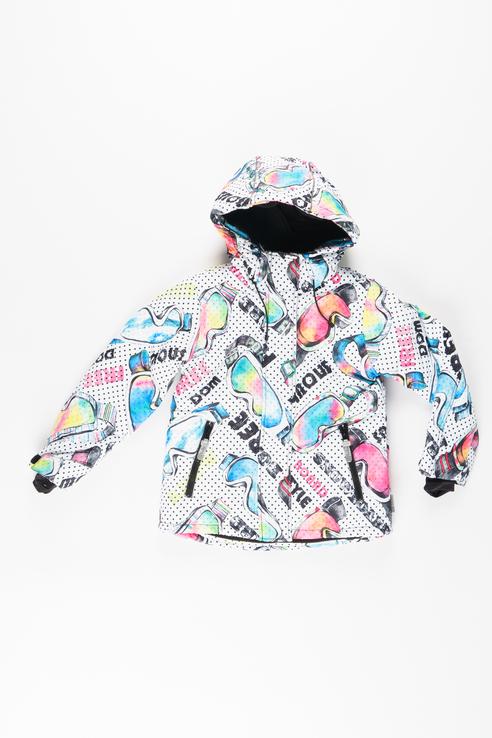 Купить 219BBGA41010004, Куртка для девочки Button Blue, цв.белый, р-р 128,
