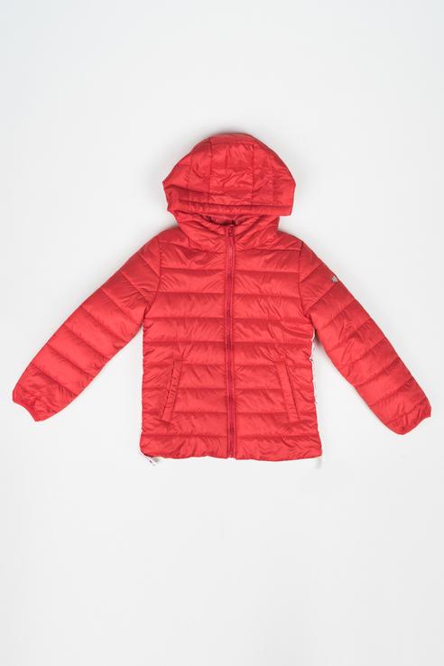 120BBGC41023500, куртка для девочки Button Blue, цв.красный, р-р 128,  - купить со скидкой