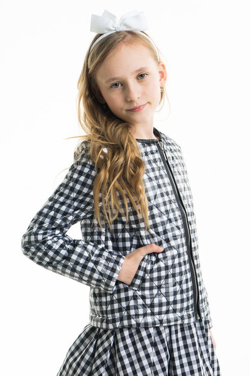 Купить 11806GKC4102, Куртка для девочки Gulliver, цв.мультиколор, р-р 128,