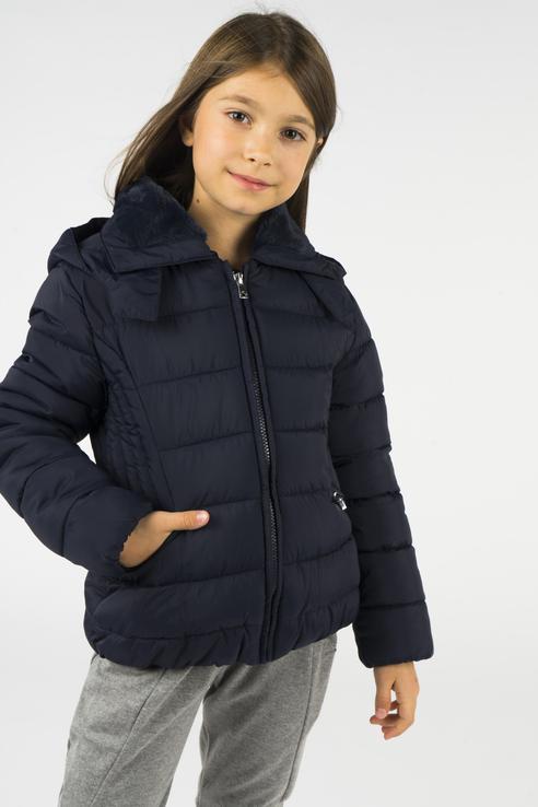 Купить 416, Куртка для девочки Mayoral, цв.синий, р-р 140, Куртки для девочек