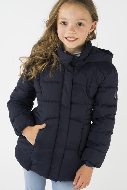 Купить 415, Куртка для девочки Mayoral, цв.синий, р-р 104, Куртки для девочек