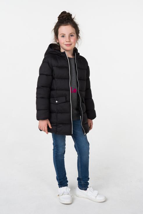 Купить 4.V681.00, Куртка для девочки iDO, цв.чeрный, р-р 104, Куртки для девочек