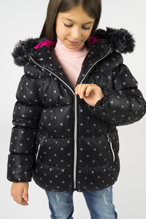 Купить 218BBGC41020815, Куртка для девочки Button Blue, цв.чeрный, р-р 128,