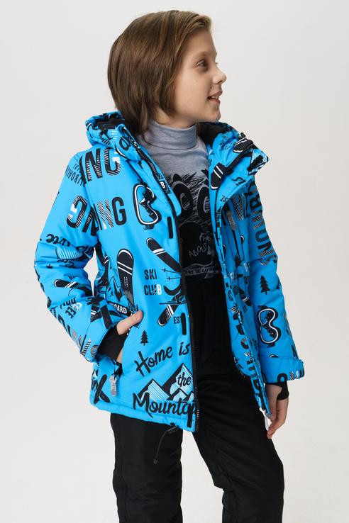 Купить 219BBBA41013713, Куртка для мальчика Button Blue, цв.голубой, р-р 140,