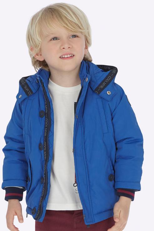 Купить 4448, Куртка для мальчика Mayoral, цв.голубой, р-р 128, Куртки для мальчиков